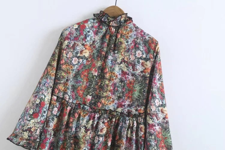 BF Loose Layers Of Flowers Dress - Mia Mod