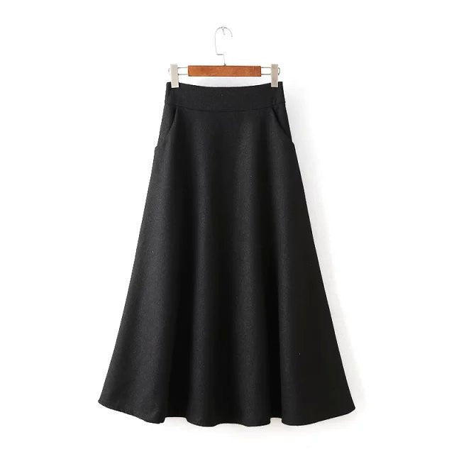 A-Line Wool Skirt 4 Colors