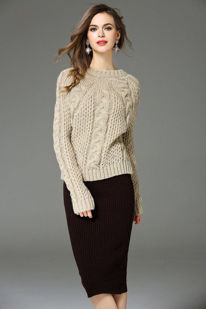 CABLE KNIT SWEAT SET