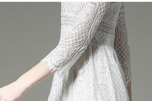 WHITE LACE DRESS - TALL GIRLS STYLE
