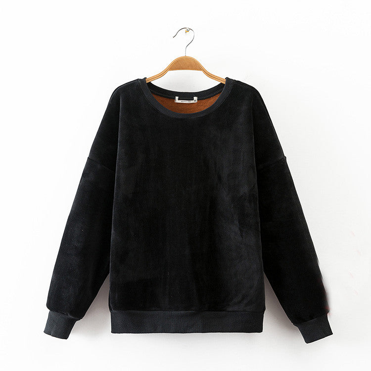 Fleece Lined Velour Sweater