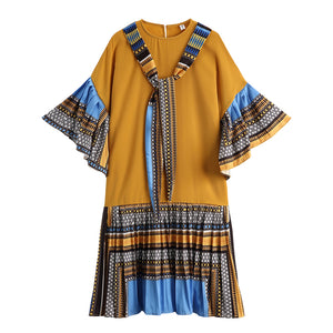 RETRO LOOSE GEO DRESS