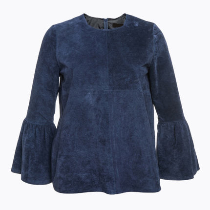 BLUE SUEDE TOP