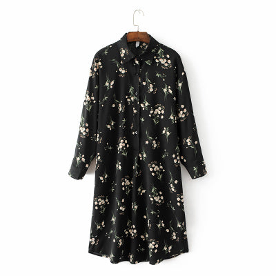 YEAR ROUND FLORAL SHIRT DRESS