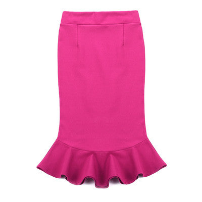 MM Pencil Ruffle Skirt