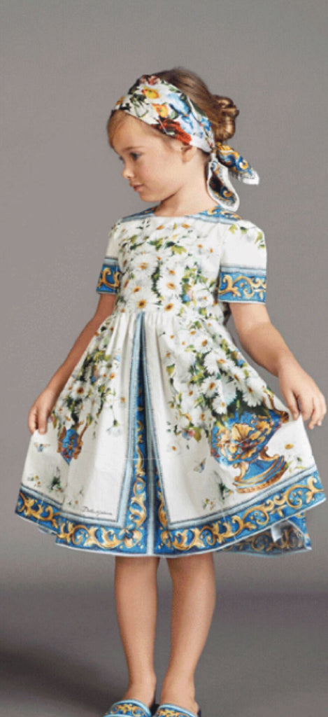 RK Daffodil Bouquet Brocade Dress