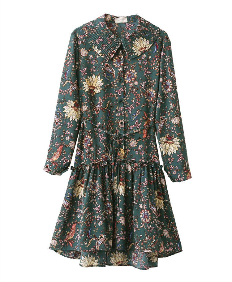SHORTER GIRL STYLE - UP DOWN FLORAL DRESS