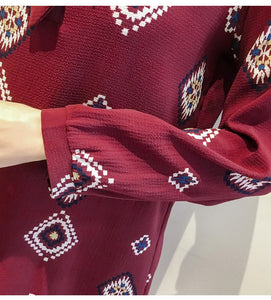 AZTEC SHIFT DRESS IN MAROON!