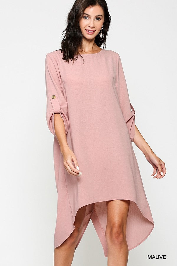 MAUVE COVERALL/TUNIC DRESS