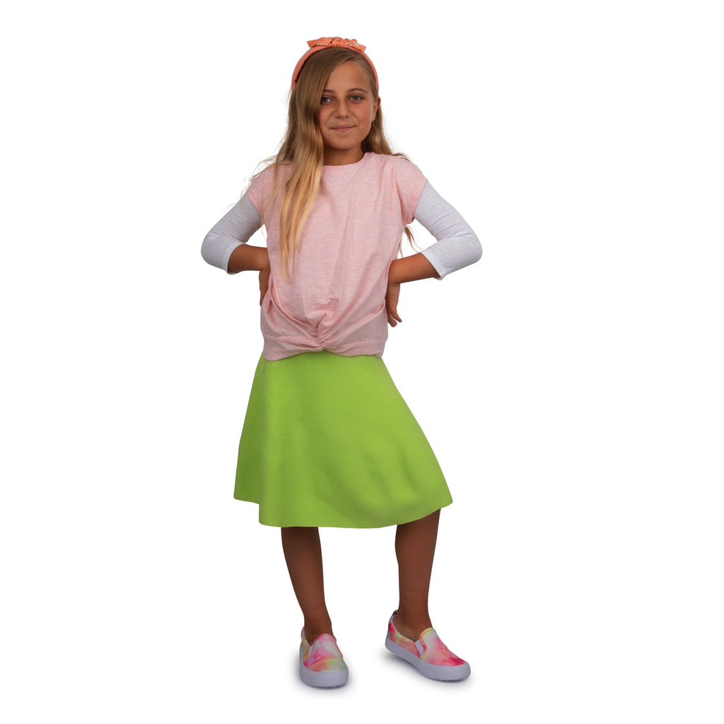 MM JR SUMMER SKIRT - TENNIS GREEN