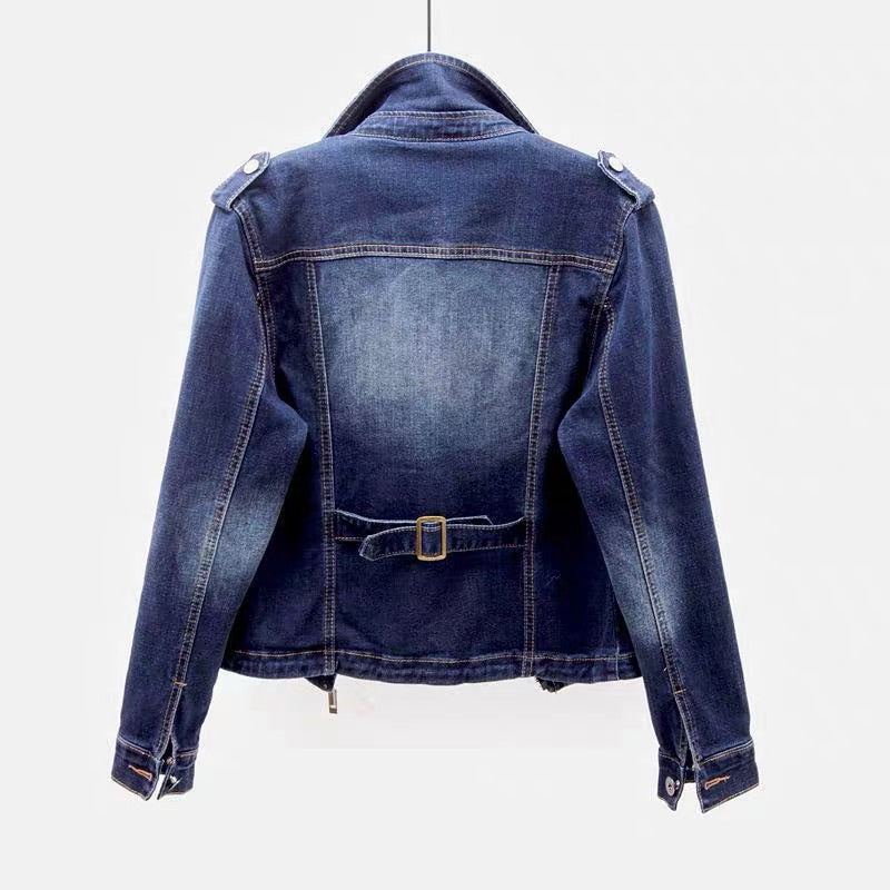 DENIM MOTO JACKET (full range of sizes) PREORDER