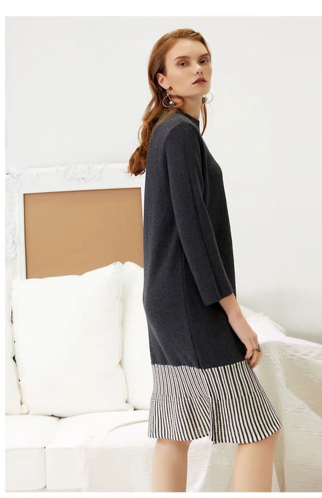 SOFT GREY SWEATER DRESS