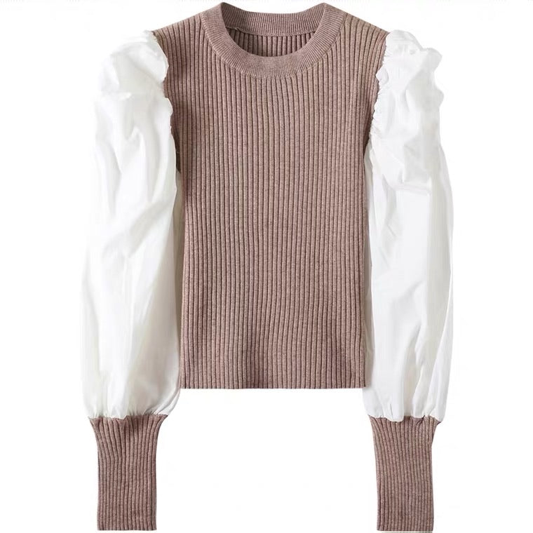Soft Puff Sleeve Sweater Shirt PRE ORDER CAN TAKE UP TO A WK TO SHIP