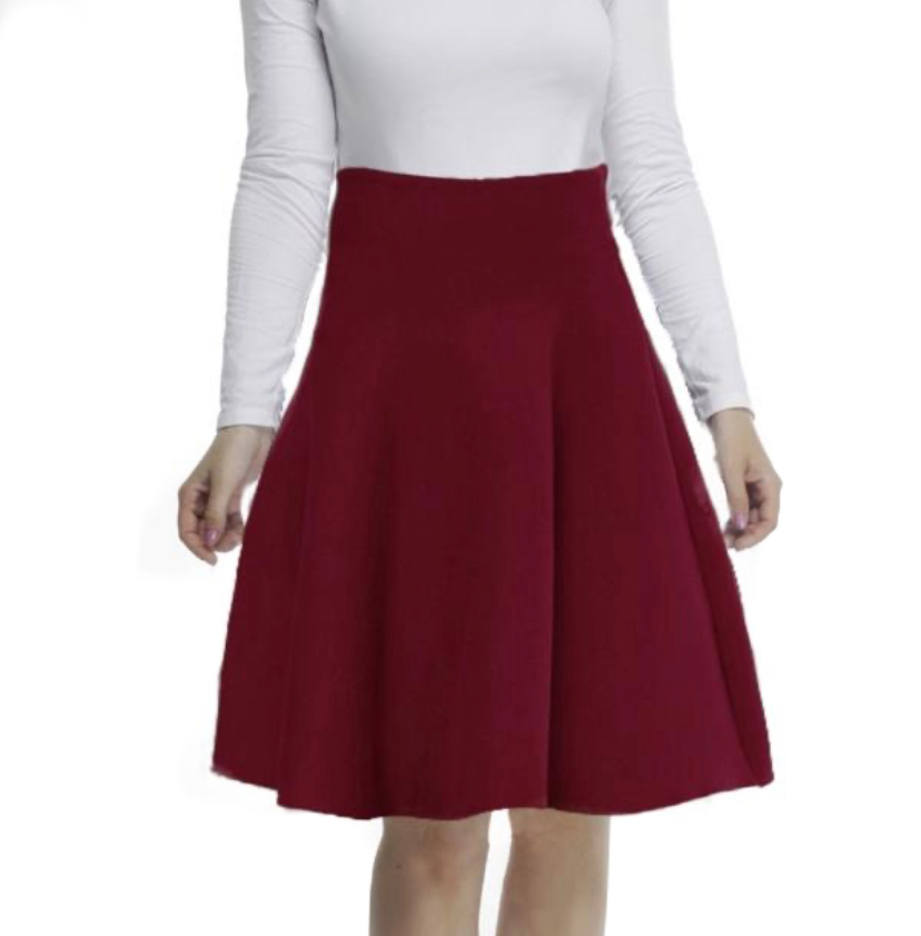 AMAZING MM SKIRT - YEAR ROUND DEEP MAROON