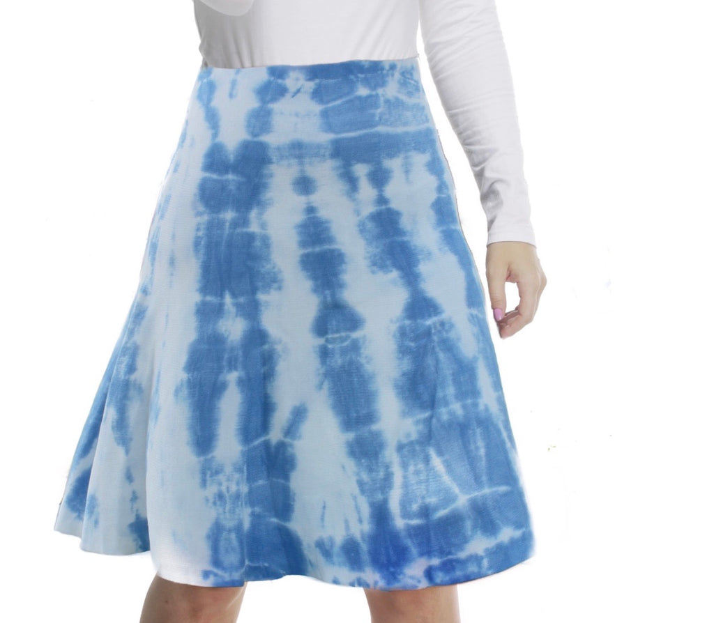 MM SUMMER TIE DYE SKIRT - BLUEISH