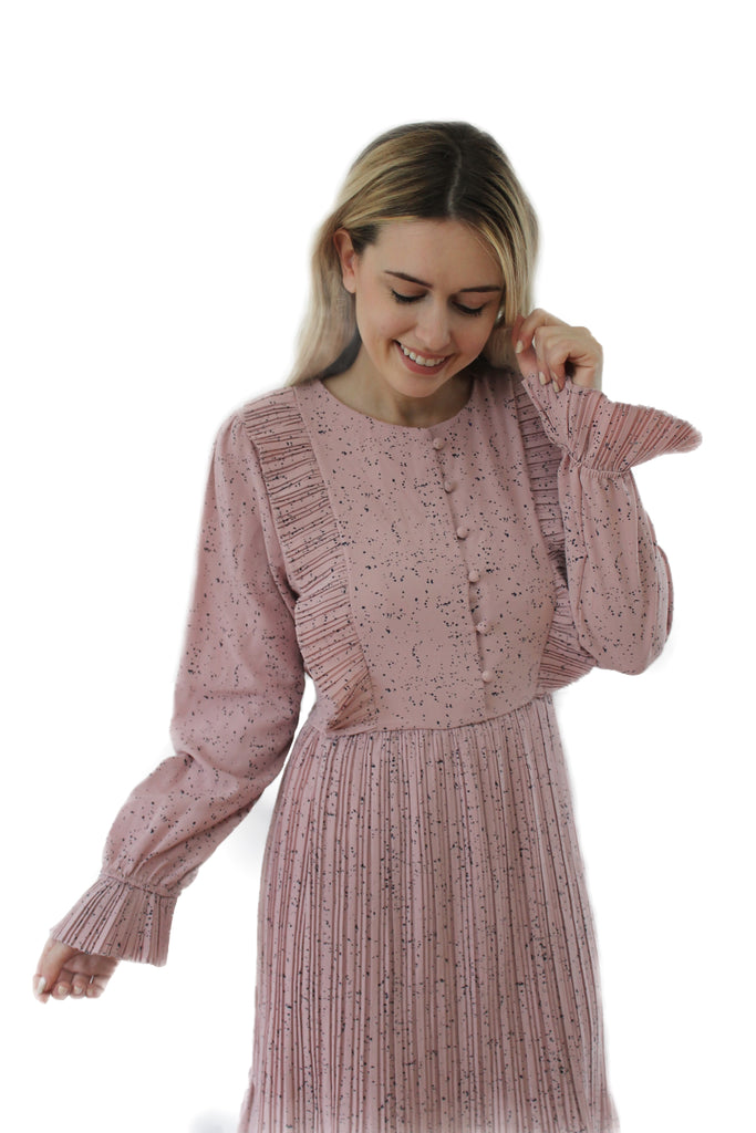 PINK SPECKLED DRESS