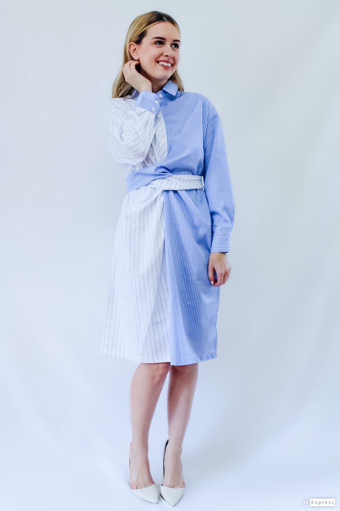 TWO TONE SHIRT DRESS