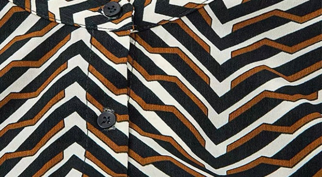 GEOMETRIC ZIG ZAG DRESS