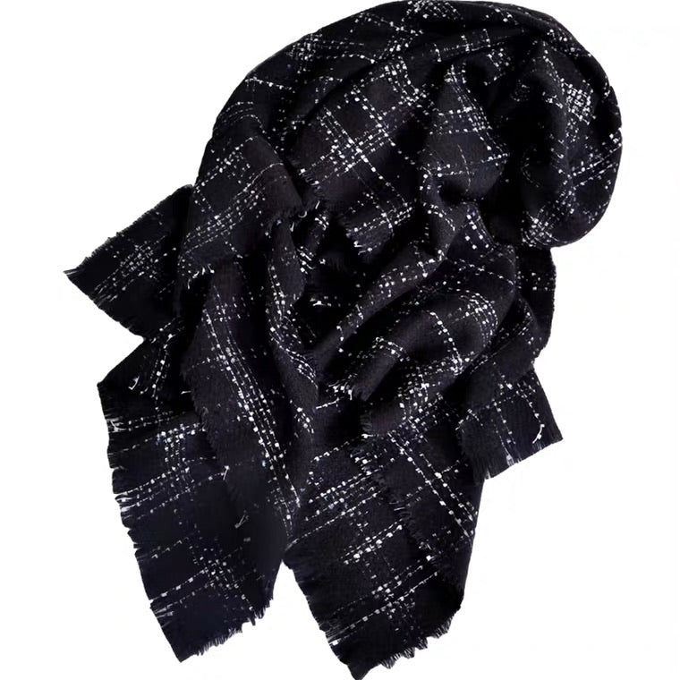 MM OVERSIZED TWEED SCARF
