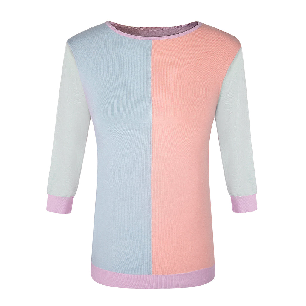 MM COLOR BLOCK PASTELS TOP