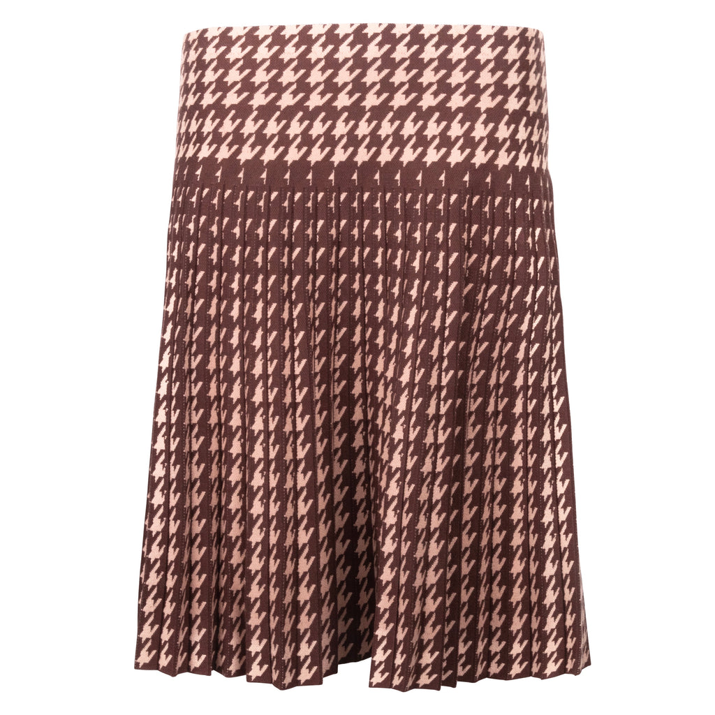 MM YEAR ROUND PLEATED - BROWN HOUNDSTOOTH