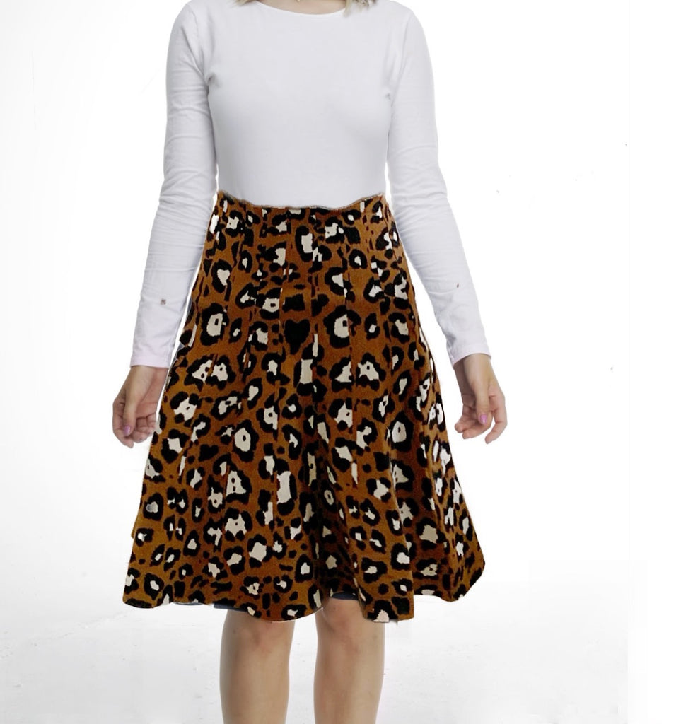 AMAZING MM SKIRT - YEAR ROUND BROWN LEOPARD PRINT