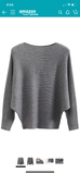 SOFTEST EVER RIBBED BATWING TOP