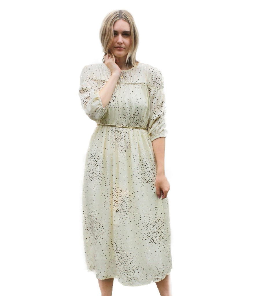 SPECKLED MIDI DRESS