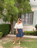 AMAZING MM SKIRT - YEAR ROUND DENIM WASH - Mia Mod
