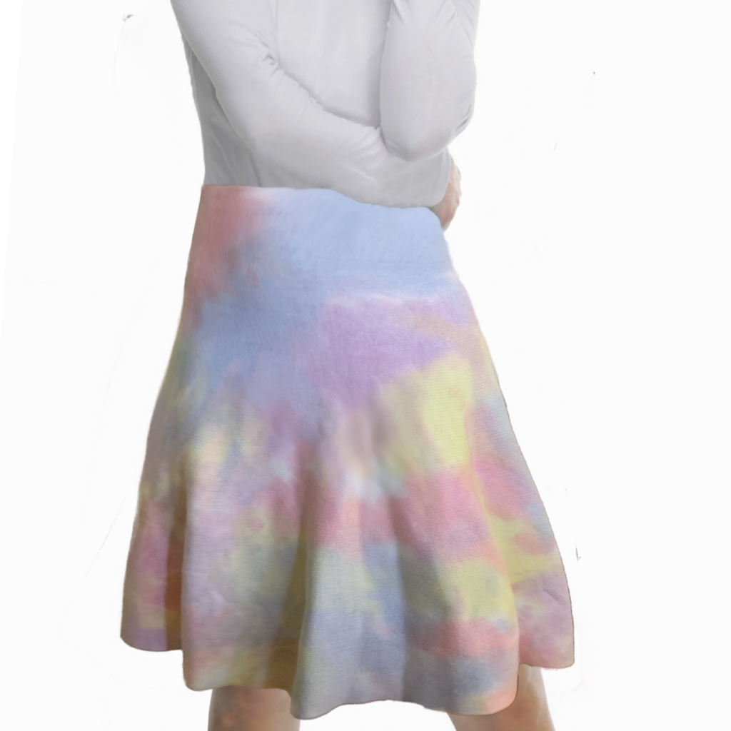 MM SUMMER TIE DYE SKIRT - PASTEL
