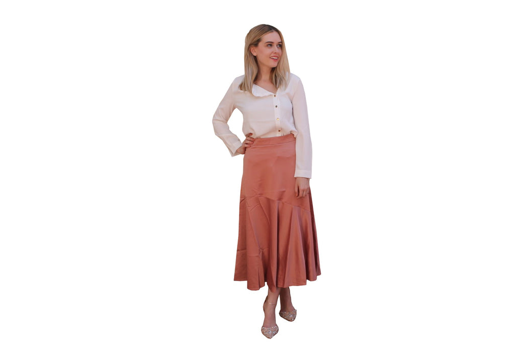 BIAS CUT SATIN SKIRT