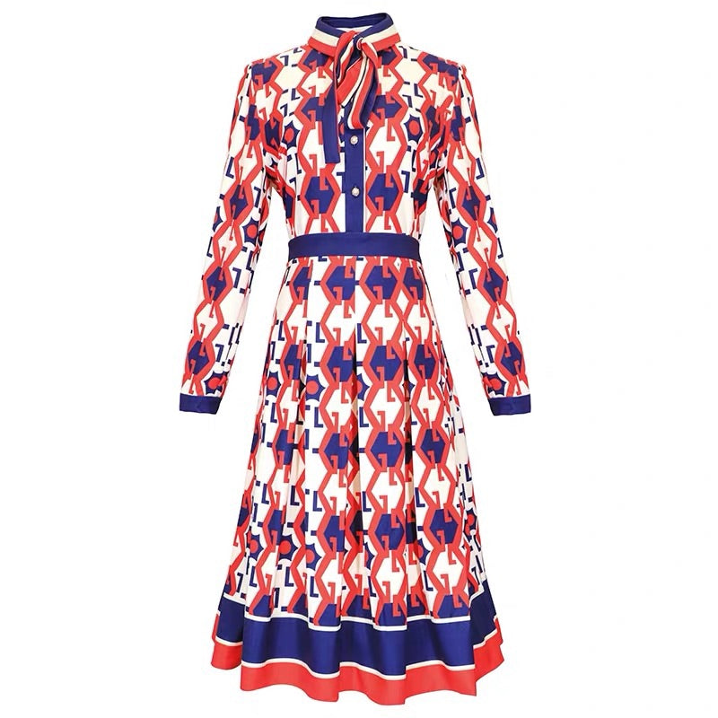 G PATTERN DRESS - Mia Mod