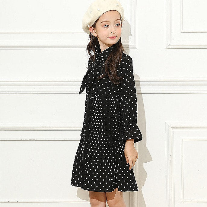 RK Black Polka Dot Dress