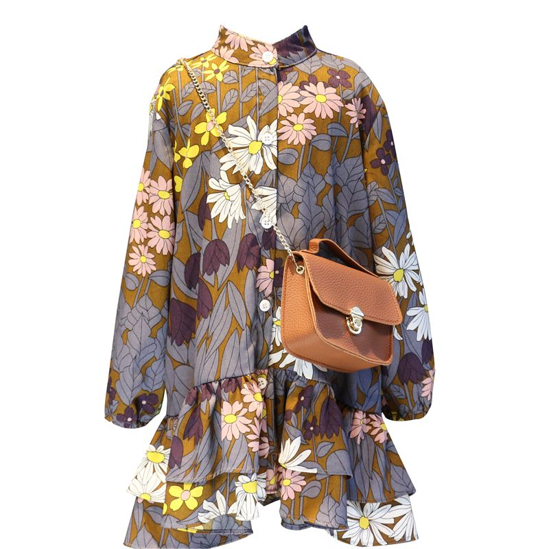 RK DELILAH FLORAL SHIRT DRESS
