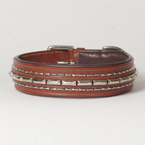 Large Extra-Wide Genuine Leather Dog Collar
