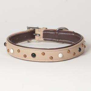 Ivory Soft Napa Leather Dog Collar