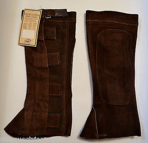 3 Pair of  Weaver Leather  Quality Suede Half Chaps  Brown - Small Size