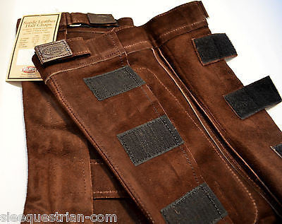 Lot of 17  Weaver Leather  Quality Suede Half Chaps Riding Brown - Small Size