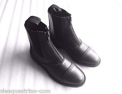 Horse Riding Steel Toe Jodhpur Boots Zipper paddock Kids 1 Black