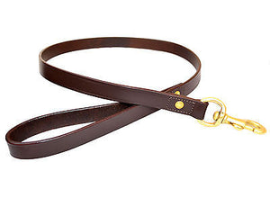Leather Dog Collars Leads w Snap Buckles. All Sizes Available.