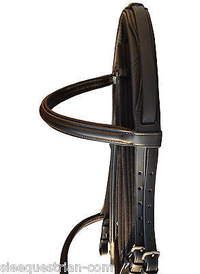 Lot of 10 Crank Dressage Bridles Black Havana  Flash with Reins Customized