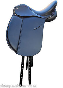 English Dressage Leather Saddle - All Sizes in Regular and Wide Tree SADDLES EHS