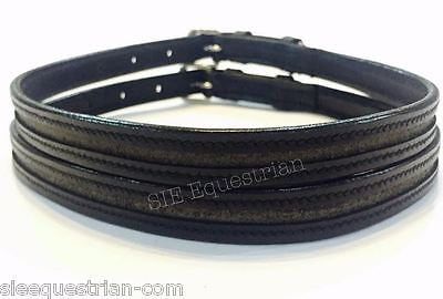 SIE Leather Empty Channel ENGLISH SPUR STRAPS - Double Keeper