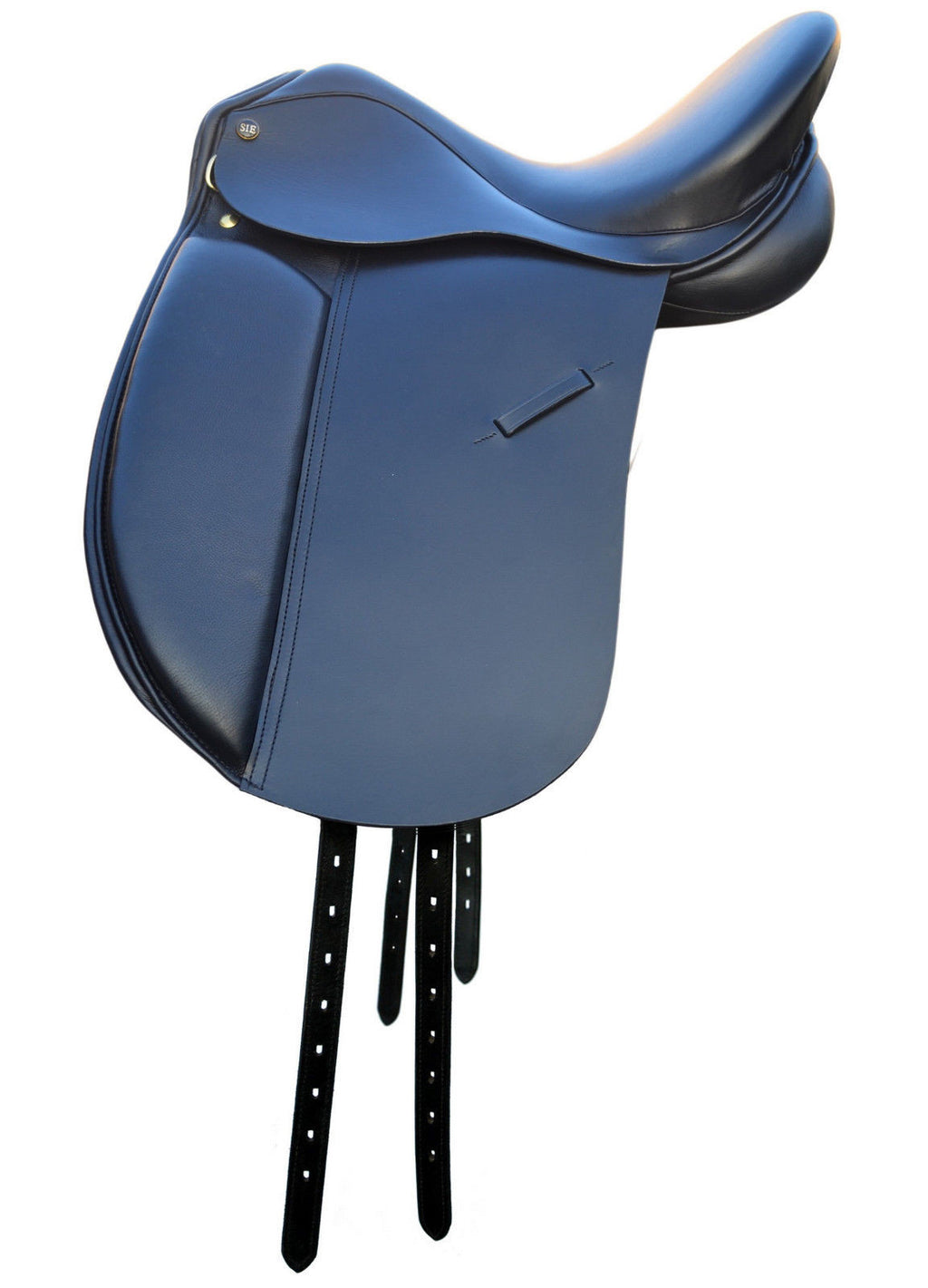 "16""/17""/18"" Dressage Leather Saddle with Stirrups & Leathers"