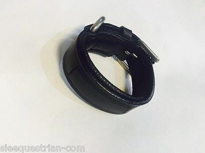 Wrist Leather Bracelet Empty Channel 8 mm  Padded Customized