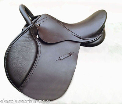 SIE Jumping 15'' Regular / Medium width handle horse saddle Brown