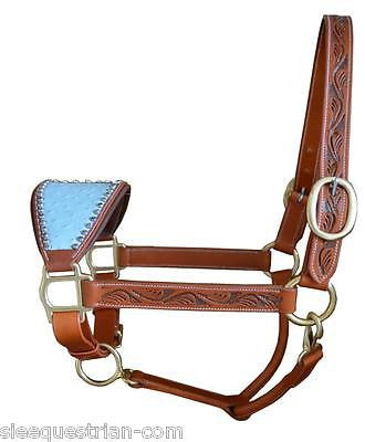 Fusion Swarovski Studded Bronc Halters/ Headcollar, USA Leather