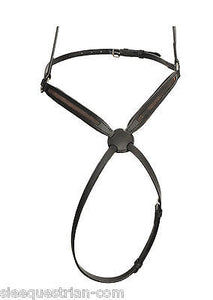 SIE Custom Empty channel Figure 8 / grackle leather horse noseband 6 mm or 8 mm