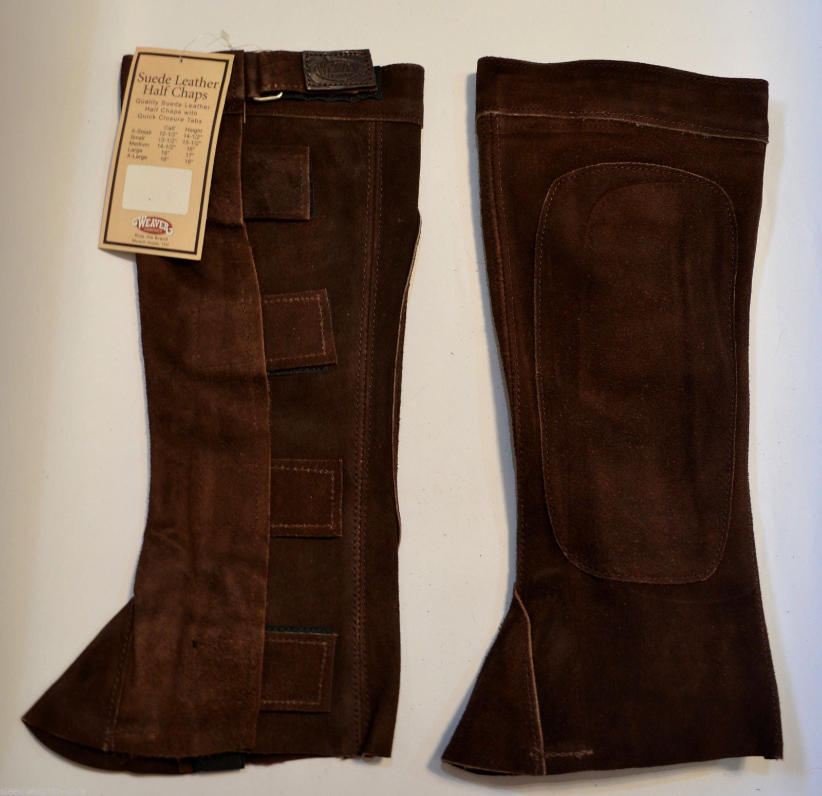 20 Pairs Weaver Leather Suede Half Chaps  Brown - Small Size FREE SHIP Christmas
