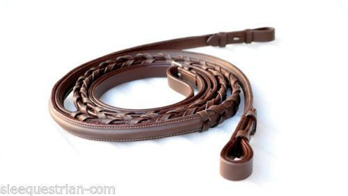 Empty Channel Braided Horse Leather Reins